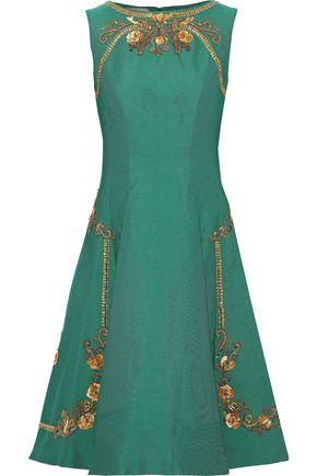 ALBERTA FERRETTI Flared embellished ponte dress