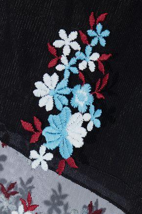 PHILOSOPHY di LORENZO SERAFINI Embroidered tulle shorts