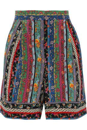 PHILOSOPHY di LORENZO SERAFINI Printed silk crepe de chine shorts