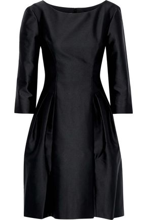 ALBERTA FERRETTI Pleated satin dress