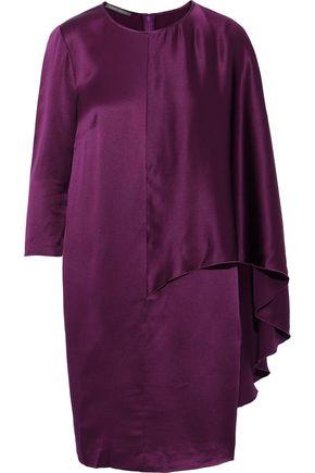 ALBERTA FERRETTI Layered silk-satin mini dress