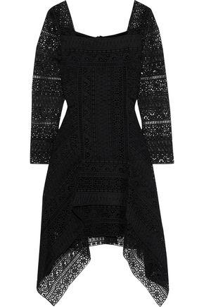 ALBERTA FERRETTI Fluted guipure lace mini dress