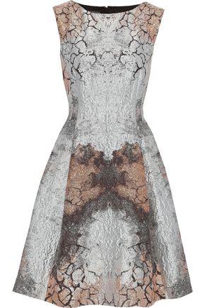 ALBERTA FERRETTI Flared metallic jacquard dress