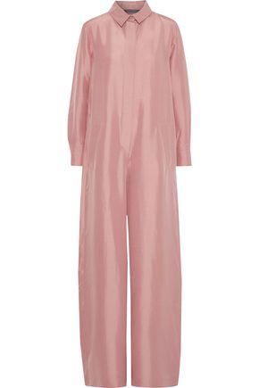 ALBERTA FERRETTI Silk-shantung wide-leg jumpsuit