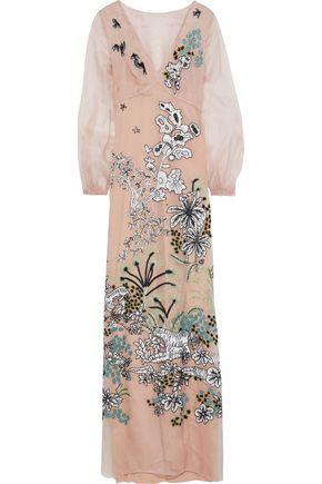ALBERTA FERRETTI Embellished silk-organza gown