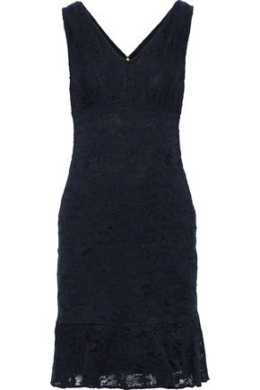 DONNA KARAN Fluted corded lace dress