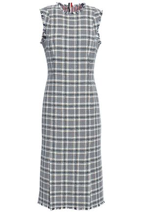 THOM BROWNE Checked cotton-blend dress