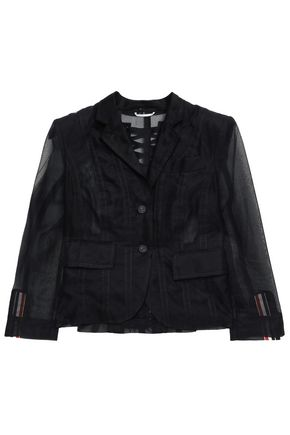 THOM BROWNE Lace-up tulle blazer