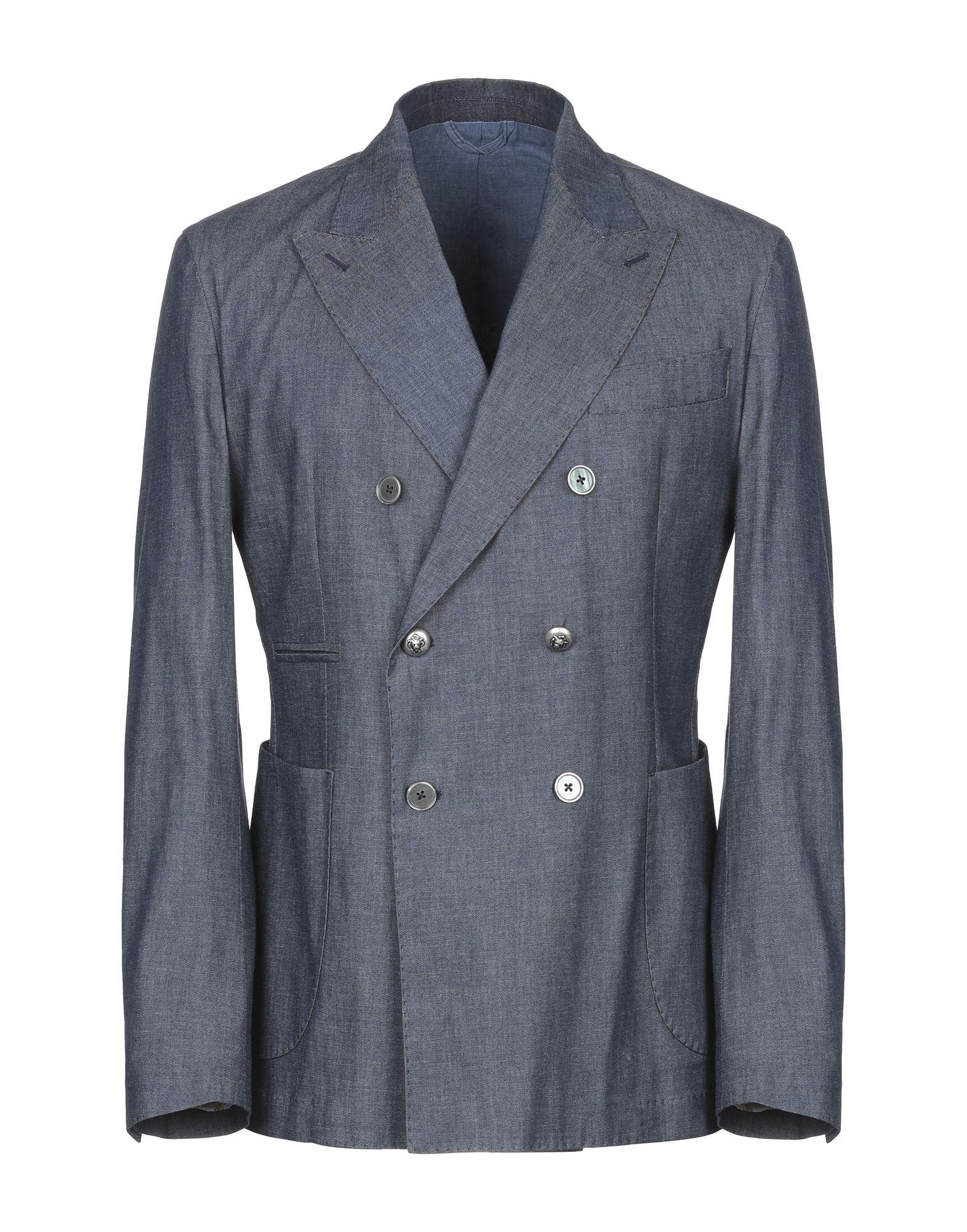 《期間限定セール開催中!》JOHN SHEEP メンズ テーラードジャケット ブルー 52 麻 59% / コットン 41%