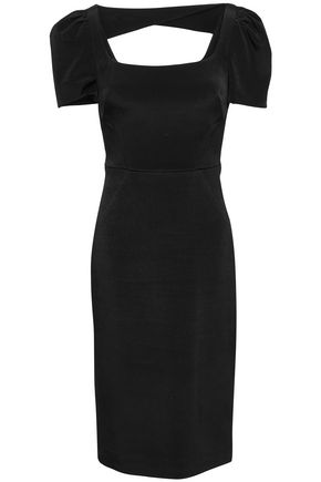 REBECCA VALLANCE Ivy cutout crepe dress