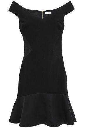 REBECCA VALLANCE Anise off-the-shoulder crepe-paneled cloqué mini dress