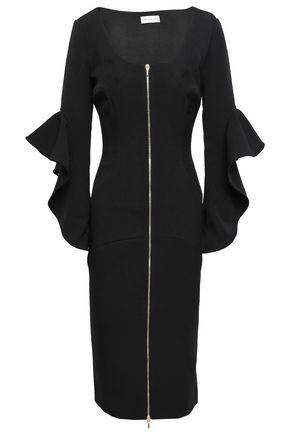 REBECCA VALLANCE Carline zip-detailed stretch-crepe midi dress