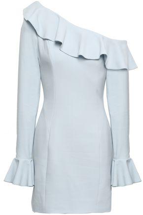 REBECCA VALLANCE Aegean off-the-shoulder ruffled crepe mini dress