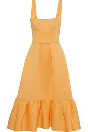 RACHEL GILBERT Cora ruffled neoprene midi dress