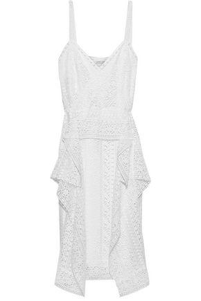 ALBERTA FERRETTI Draped guipure lace dress