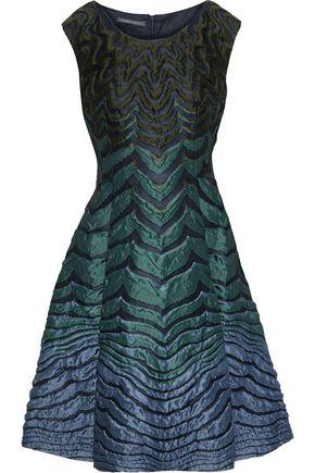 ALBERTA FERRETTI Flared brocade dress