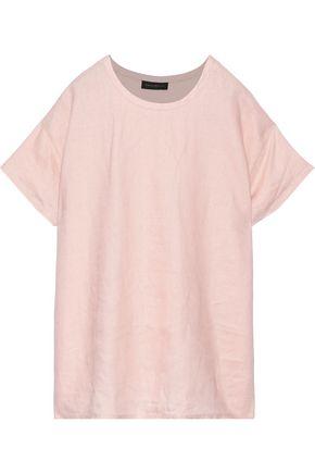 DONNA KARAN Oversized linen T-shirt