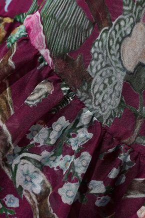 ALBERTA FERRETTI Floral-print silk-chiffon maxi dress