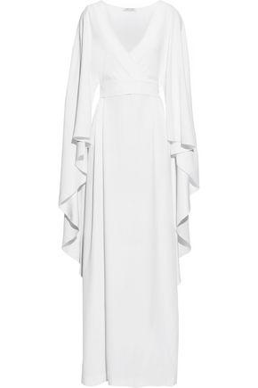 ALBERTA FERRETTI Draped crepe wrap gown