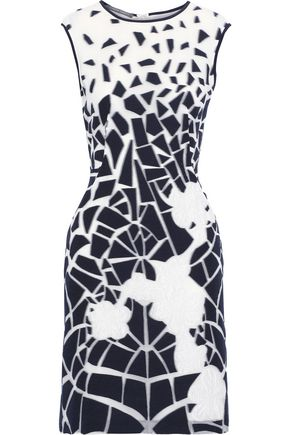 ALBERTA FERRETTI Burnout cotton-blend mini dress
