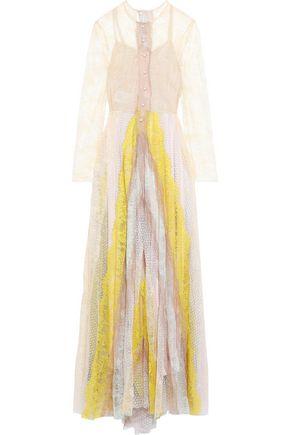 PHILOSOPHY di LORENZO SERAFINI Color-block corded lace maxi dress
