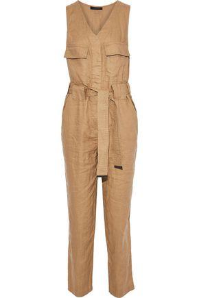 DONNA KARAN Tie-front linen jumpsuit