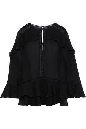 ALBERTA FERRETTI Ruffled silk-chiffon blouse