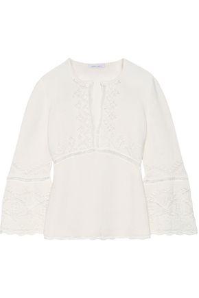ALBERTA FERRETTI Pointelle-knit cotton top
