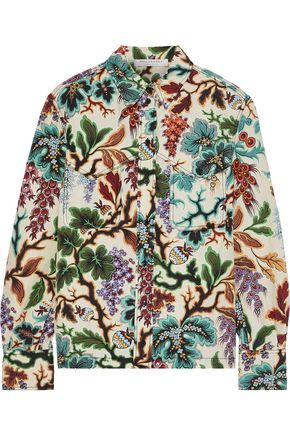 PHILOSOPHY di LORENZO SERAFINI Printed linen and silk-blend shirt