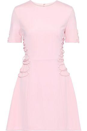 CUSHNIE Lace-up cady mini dress