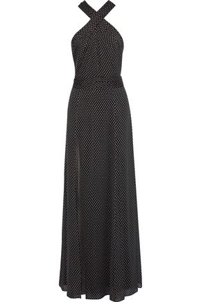 HALSTON HERITAGE Fil coupé georgette gown