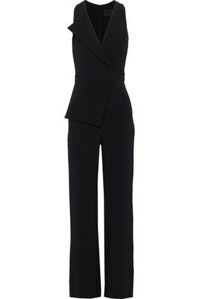 CUSHNIE Wrap-effect stretch-crepe jumpsuit