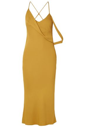 MICHELLE MASON Open-back draped crepe midi dress