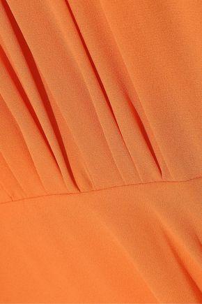 HALSTON HERITAGE Asymmetric crepe gown
