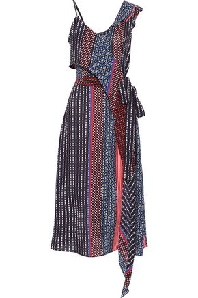 W118 by WALTER BAKER Annette draped printed crepe midi dress