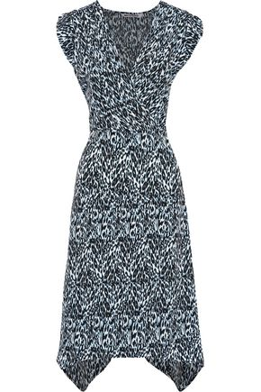 W118 by WALTER BAKER Vera wrap-effect leopard-print crepe de chine dress