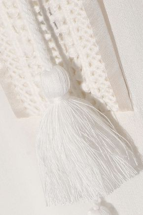 TALITHA Embroidered silk-gauze maxi dress
