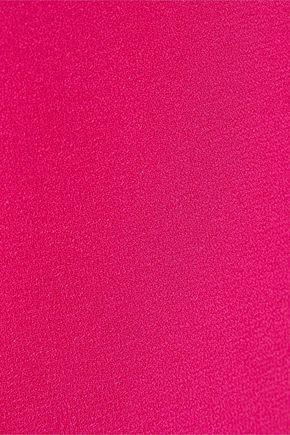 HALSTON HERITAGE Tie-back layered crepe jumpsuit
