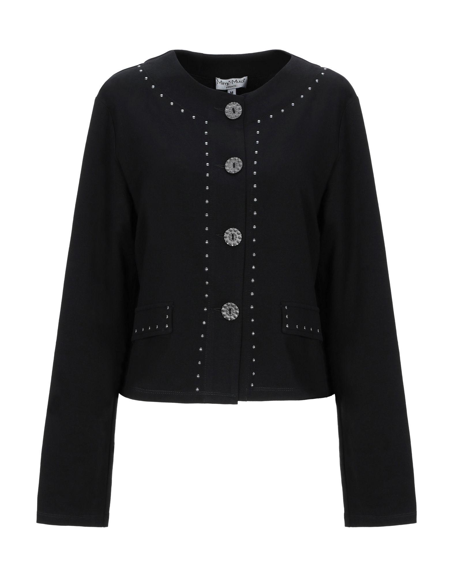 《送料無料》MIMI-MU? Firenze レディース テーラードジャケット ブラック XS コットン 95% / ポリウレタン 5%