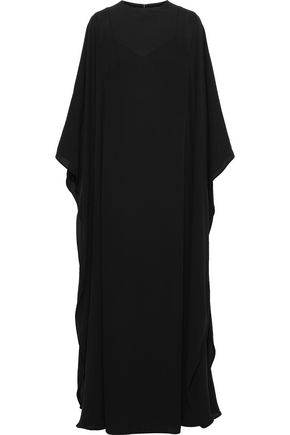 VALENTINO Draped silk-crepe gown