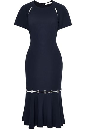 JONATHAN SIMKHAI Embellished cutout stretch-crepe midi dress