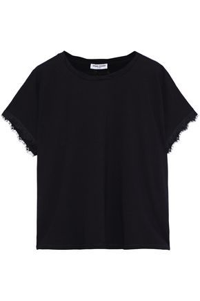 OPENING CEREMONY Lace-trimmed stretch-cotton jersey T-shirt