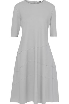 JIL SANDER Brushed wool-jersey dress