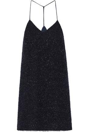HALSTON HERITAGE Tinsel mini slip dress