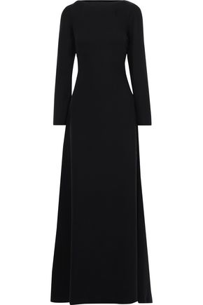 VALENTINO Open-back silk-crepe gown