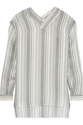 JIL SANDER Striped silk tunic