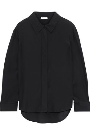 JIL SANDER Washed-silk shirt