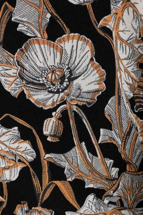 JIL SANDER Floral-print silk crepe de chine mini shirt dress