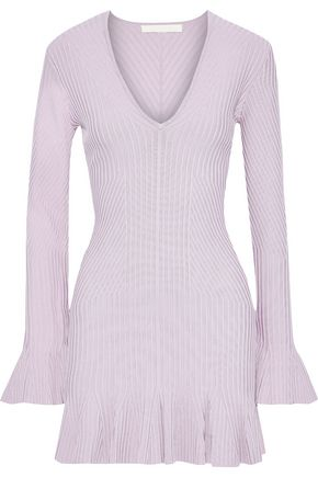 JONATHAN SIMKHAI Ribbed-knit mini dress