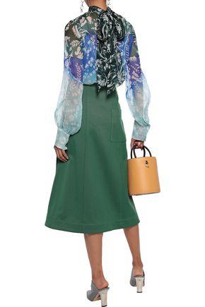 PETER PILOTTO Floral-print dégradé silk-georgette blouse